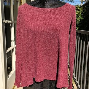 Super cute, light sweater with open back detail